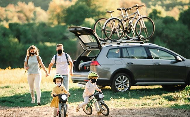 велокрепление на авто семья